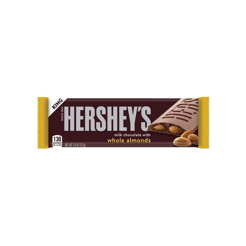 Hershey's Milk Chocolate with Whole Almonds King Size - 2.6oz Candy Bar
