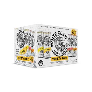 White Claw Hard Seltzer 12 Can Variety Pack Collection with Lemon, Mange, Tangerine, and Watermelon - 144 fl oz