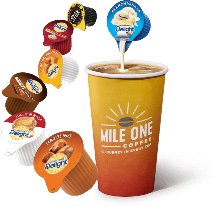 Mile One Coffee and Creamer Flavors