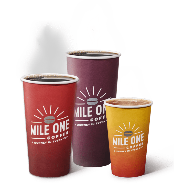 Mile One Coffee Varieties and Sizes