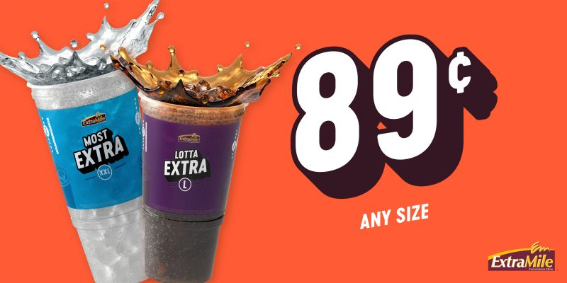 89 cent fountain drink promo