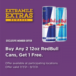 ExtraMile Exclusive Red Bull Promo